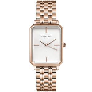 Rosefield The Octagon White Sunray Steel Rose Gold OCWSRG-O42